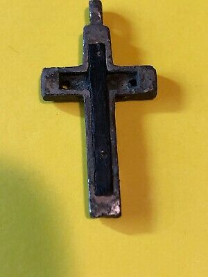 Antique Post Medieval Cross W/original Wood Inlays