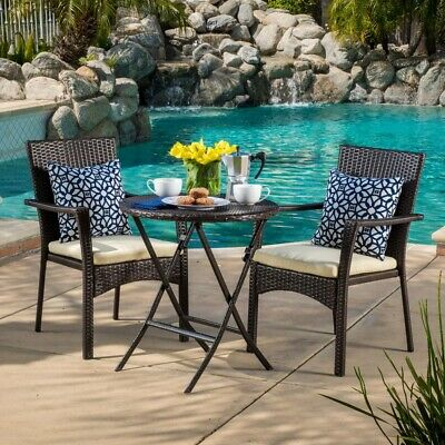 Amazing Outdoor Wicker Bistro Set Brown 3 Piece 2 Chairs Table Off Onthecornerstone Fun Painted Chair Ideas Images Onthecornerstoneorg