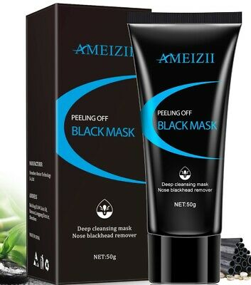 ​GLAMZA CHARCOAL BLACKHEAD REMOVER PEEL OFF FACIAL CLEANING BLACK FACE MASK 50g