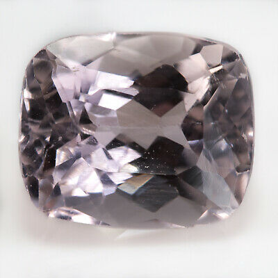 4.72ct Kunzite. A light pink, cushion cut, loose gemstone. Eye clean and bright