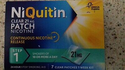 (New) 21mg niquitin clear patches 1 step 7 patches