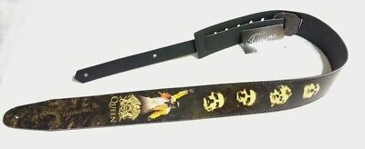 Queen Guitar or Bass Strap, Adjustable Size, Eco-Friendly Leather, Belts, Unisex