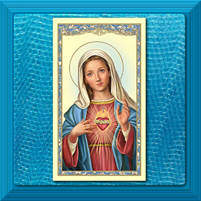 Catholic Holy Prayer Card Blessed Mother Prayer to the Immaculate Heart of Mary