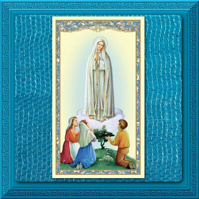 Catholic Holy Prayer Card 🕊 Novena to Our Lady of Fatima Rosary Blessed Mother