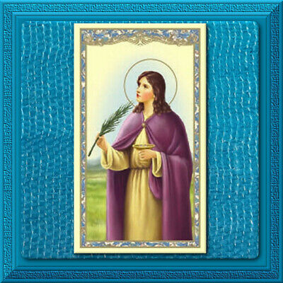 Catholic Holy Prayer Card ✝️ St. SAINT LUCY Patron for EYES Relying on your Good