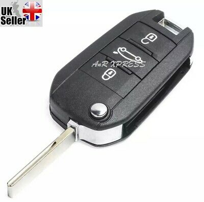 New High Quality 3 Button Flip Key Fob Case For Peugeot 208 308 508 3008 5008