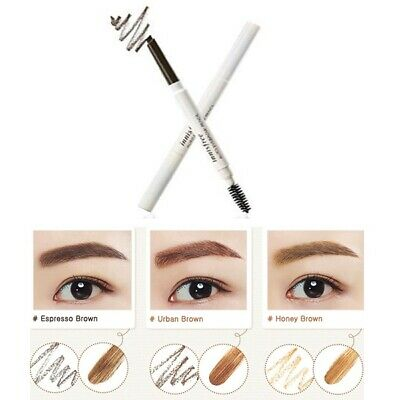 INNISFREE Auto Eyebrow Pencil & Spoolie, All 7 Colours Available, UK Stock