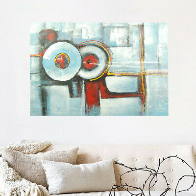 *Abstract* Hand-Painted Canvas Oil Painting Modern Wall Art Home Decor - Framed