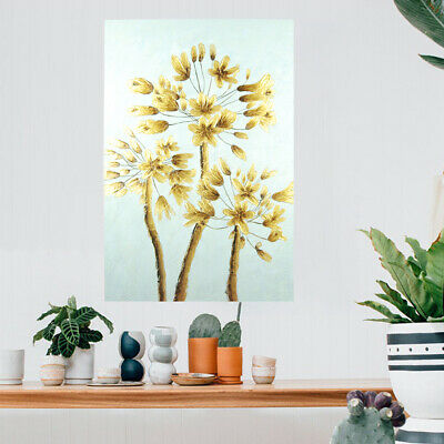 Hand Painted Oil Painting On Canvas Wall Art Home Decor:Golden Tree Framed