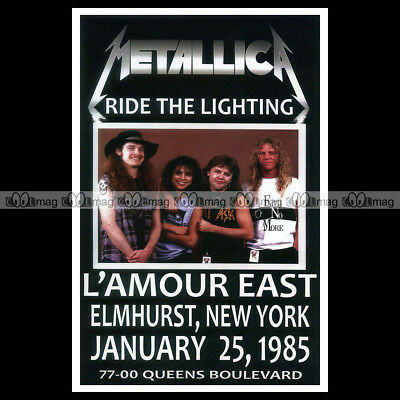 #phpb.000732 Photo METALLICA NEW YORK 1985 A4 Poster reprint