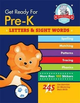 NEW Get Ready for Pre-K : Letters & Sight Words By Heather Stella Paperback