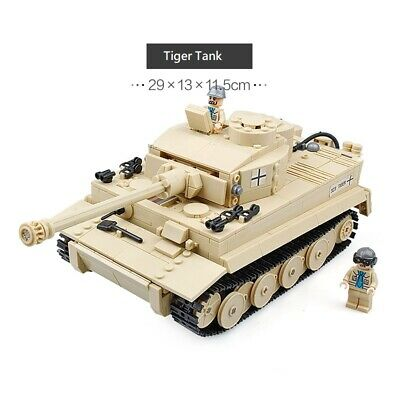 BRICKMANIA TIGER TANK german tank in mint condition WWII - EUR 199