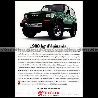 ★ TOYOTA LAND CRUISER KZJ 1995 ★ Pub AUTO 4X4 Publicité Off-Road Advert #A86