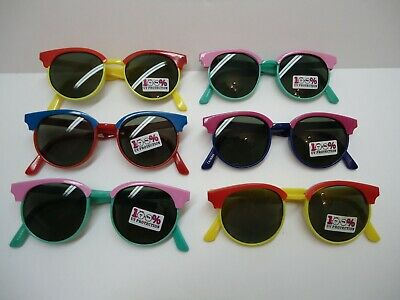 Lot of (6)six VINTAGE style Quality SUNGLASSES for KIDS new 100% UV PROTECTION