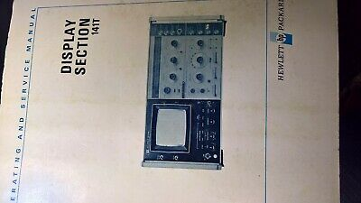 Hewlett Packard 141T DIsplay Section  Manual *8500 series spectrum analyzers