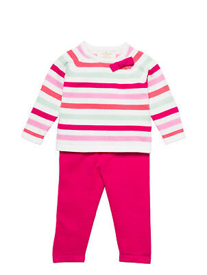 KATE SPADE New York SWEATER + LEGGING Outfit Set MULTI STRIPE 6 or 9 Months NWT