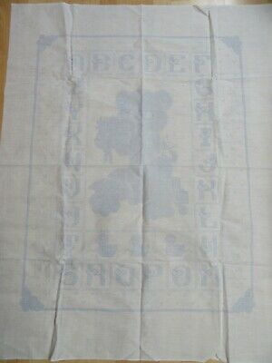 Stamped Fabric for Cross Stitch or Embroidery Baby Blanket Sampler 35x45