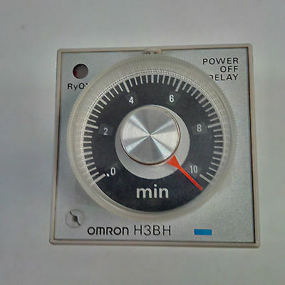 """Omron H3BH-8 timer 0.5-10 min 120 volt ac """"used"""""""