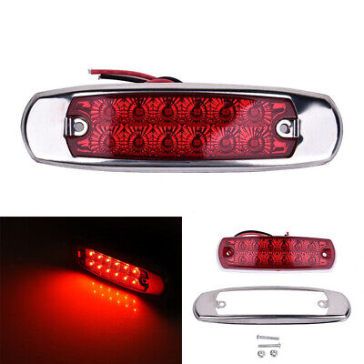Replacement Side Marker Light 2pcs Trailers 12-LED High Brightness Indicator