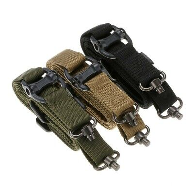 "32mm 1.2"" Retro Tactical Quick Detach QD 1 or 2 Point Multi Mission Rifle Sling"