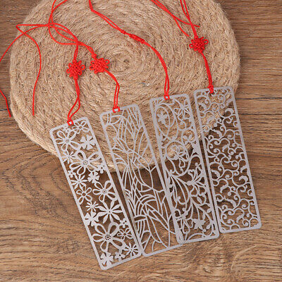 1pcs Creative flower hollow bookmarks metal bookmark stationery gifts