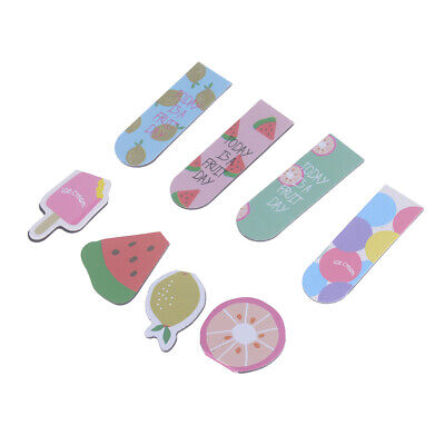 Kawaii fruit ice cream magnetic bookmarks stationery school office supply