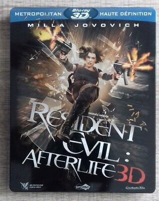 Blu Ray Resident Evil Afterlife 3D  EDITION STEELBOOK COLLECTOR fr