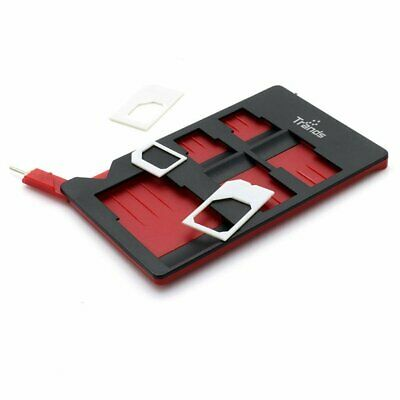 Trands Sim Memory Card Adapter Multi Function Storage Holder with Ejector Pin