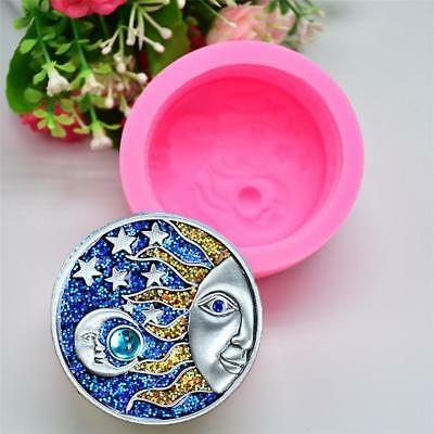 Sun Moon Faces Silicone Soap Molds Craft DIY Handmade Soap Bake Mould Tool Decor
