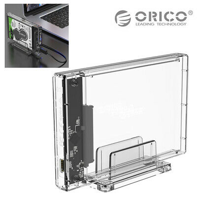 "ORICO USB 3.1/3.0 Transparent 2.5"" SATA SSD HDD Hard Disk Drive Enclosure Case"