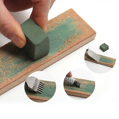 Wooden Handle Dual Sided Leather Blade Strop Cutter Razor Sharpener Polishing
