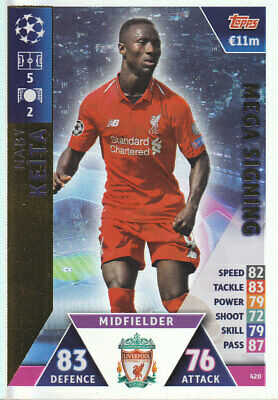 TOPPS MATCH ATTAX CL 2018-19 - Naby Keita - Liverpool - # 420 - MEGA SIGNING