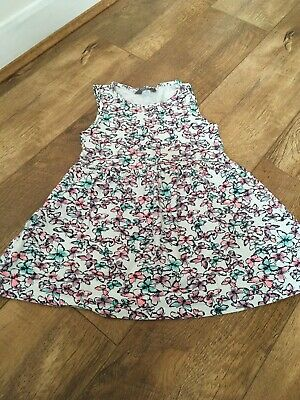 Girls Primark Butterfly Summer Dress Age 6-7 Years