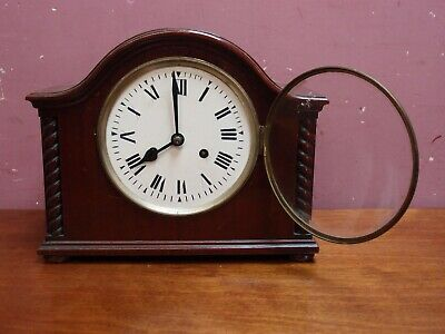Antique Mahogany Cased Pendulum Mantle Clock 8 Day Movement Restoration Project