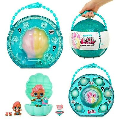 LOL 6 Pearl Surprise Balls Shell Doll Stand Glitter Case Purse Bath Playset NEW
