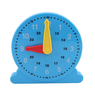 3D Plastic Blocks Digital Geometry Clock Coorful Baby Early Educational Toys 6A