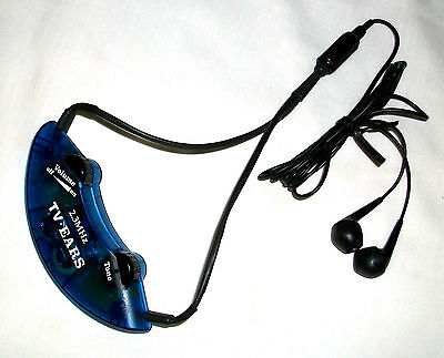 Converted Comfortable 2.3 Mhz Tv Ears Ear Bud Headset With New Battery