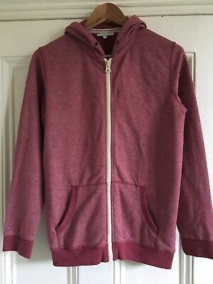 Marks and Spencer M&S Kids' Boys' Dark Red Hoodie Hooded Jacket 13-14 Years VGC