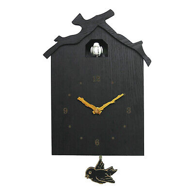 Natural Wall Clock Wooden Bird Cuckoo House Walls Watch Decoration Decors