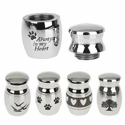 Mini Urn for Ashes Cremation Memorial Small Keepsake Ash Container Jar Metal