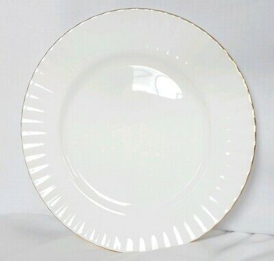 "ROYAL ALBERT 'Val D'or' china dinner plate 10.25"" vintage English fluted NEW"