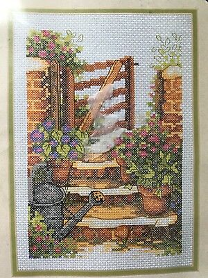 Garden Steps Counted Cross Stitch Kit Anchor 9x6.25 Sealed Pretty Colors