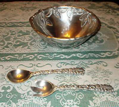 Carter Club Casuals Eden Grove Salad Bowl Country Chateau Spoon & Fork