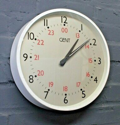 Vintage Retro Gents Gent's of Leicester White Industrial Factory Wall Clock