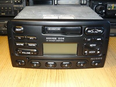 Ford 5000RDS Vintage 90s Cassette Car Stereo with Warranty Mondeo Focus Scorpio