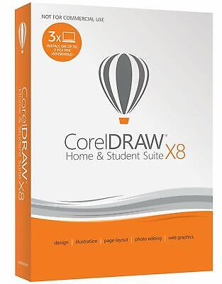 Corel CorelDRAW Home & Student Suite X8 Install on 3 PCs, DVD w/ Download Option