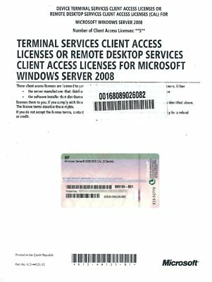 Windows Server 2008/R2 RDS CAL 5 Device - HP
