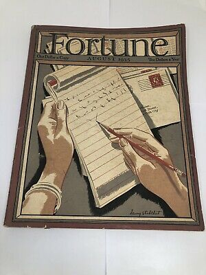 Vintage Art Deco FORTUNE MAGAZINE FRAMING COVER Aug 1935