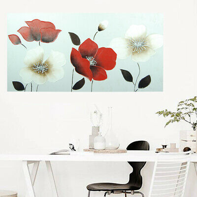 Framed Modern Handmade Canvas Oil Painting Wall Art Home Decor - Poppy Flowers