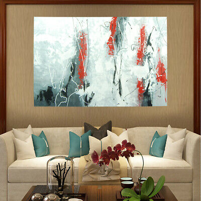 *Rebirth* Hand Painted Abstract Oil Painting Stretched Canvas Home Decor Framed